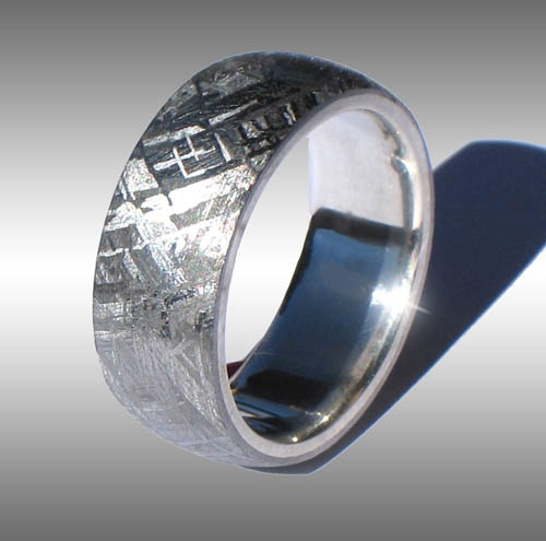 meteorite wedding ring meteorite rings 5848