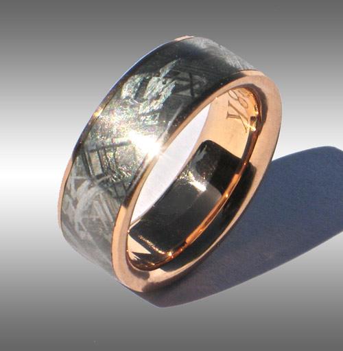 Gibeon Meteorite Wedding Rings