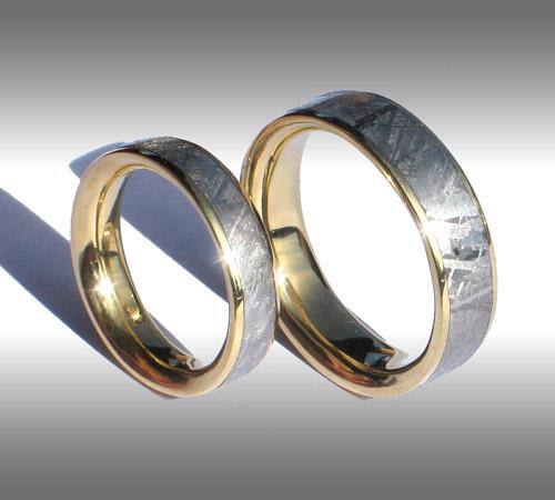 Gibeon Meteorite Rings