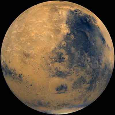 Photo of Mars, the parent body from which Martian Meteorites are derived
