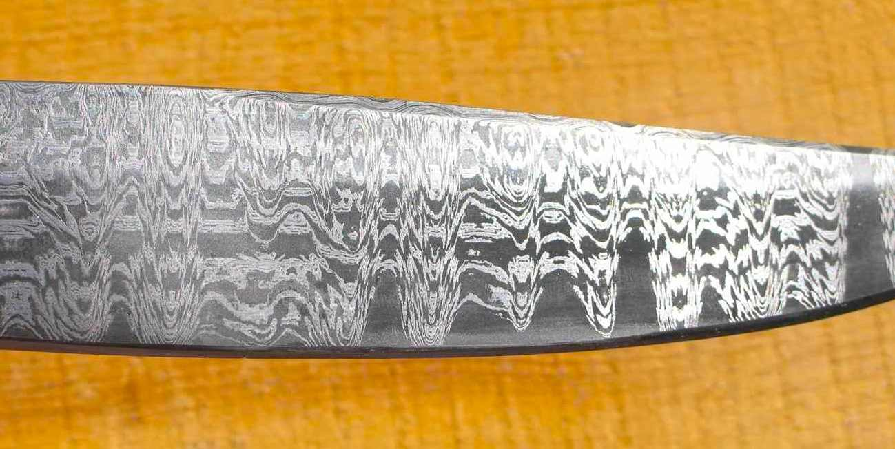 Damascus Meteorite Knife Damascus Bowie Knife
