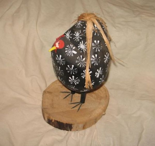 Naive Navajo Folk Art Chicken