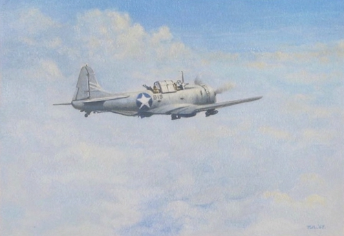 SBD Dauntless Dive Bomber Painting