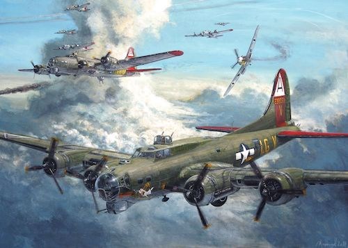 B-17 Flying Fortress Painting