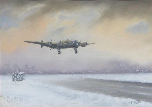 Original Halifax Bomber Painting