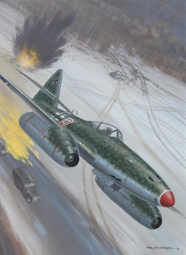 Original Postlethwaite Me-262 Painting For Sale