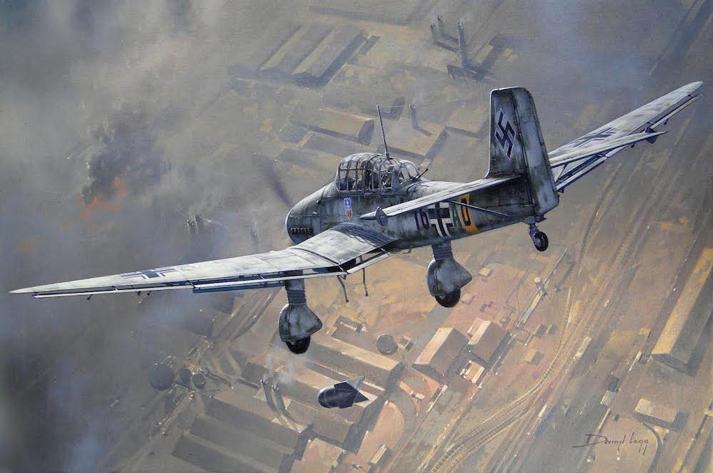 Image result for paintings ju87 stuka