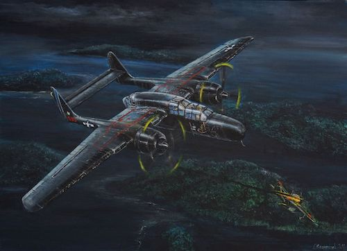 P-61 Black Widow Painting