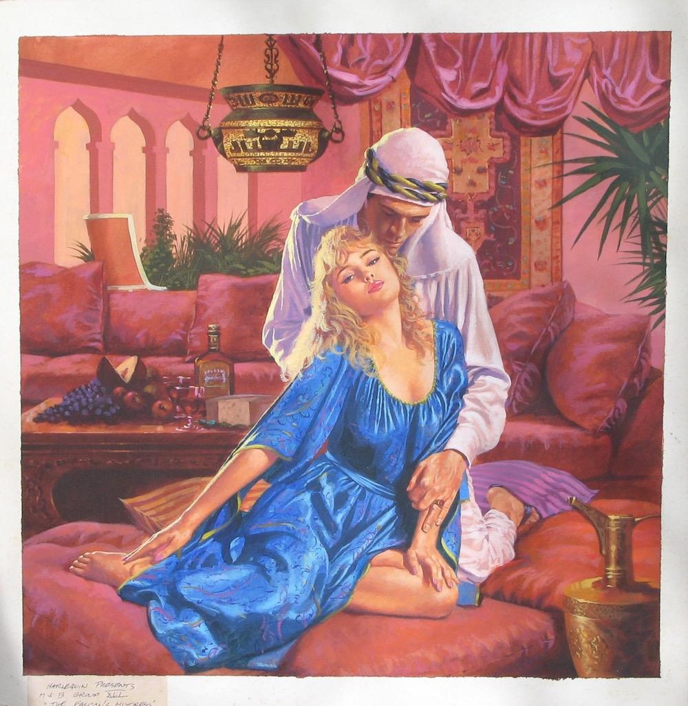 Original Cover Art For A Harlequin Romance Novel