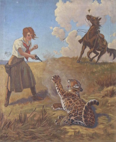 Original Western Cowgirl Painting