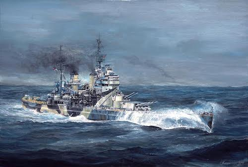 Original Battleship Painting