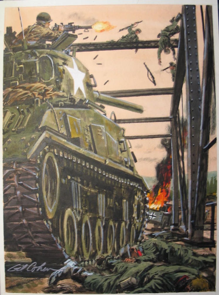 Original Sherman Tank Painting