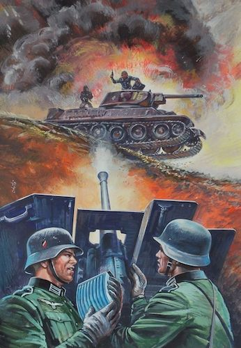 German PAK vs T-34 Tank Painting