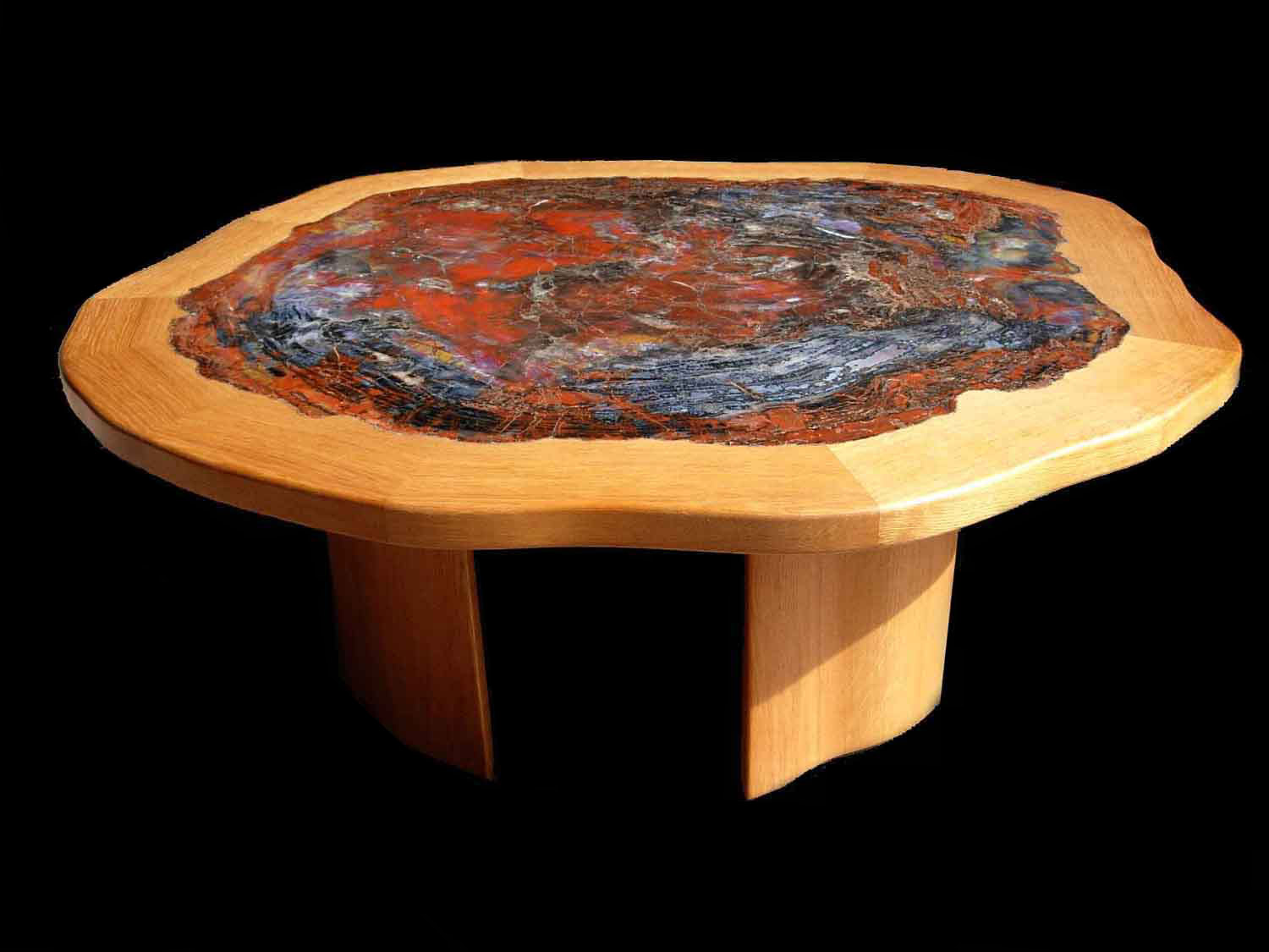 FINE QUALITY ARIZONA PETRIFIED WOOD TABLES, PETRIFIED WOOD SLABS