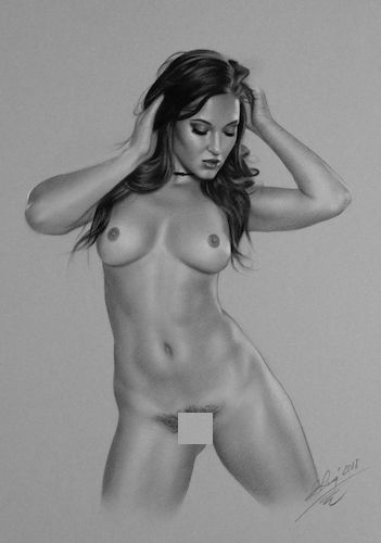 Beautiful Figurative Nude Drawing