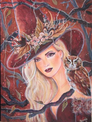Good WItch Pin Up Painting