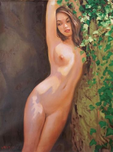 Lovely Nude Girl Painting