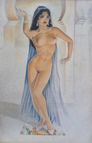 Vintage Pin Up Painting