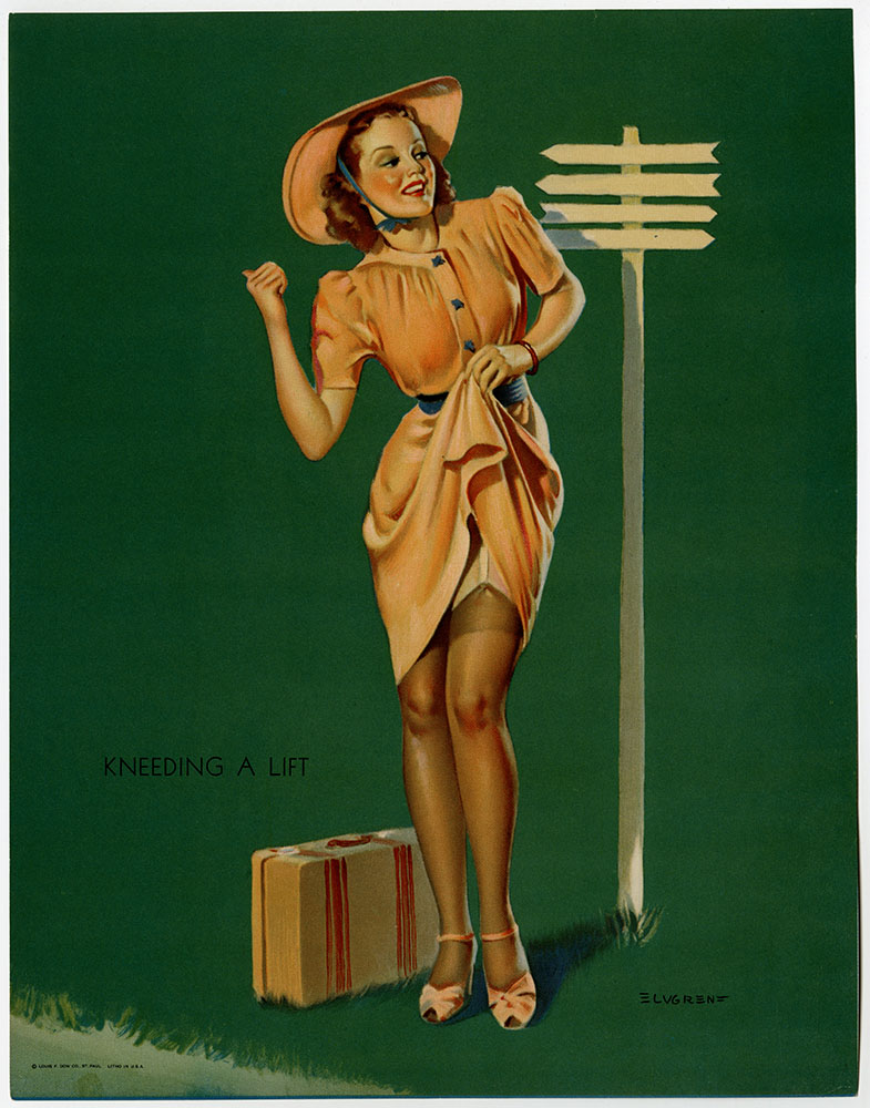I Must Be Going To Waist Elvgren Vintage Pinup Poster